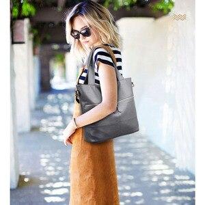 Image 3 - Rodful big soft casual torba na ramię torebki damskie skórzane damskie duże chiny damskie torebki damskie 2020 czarny/szary