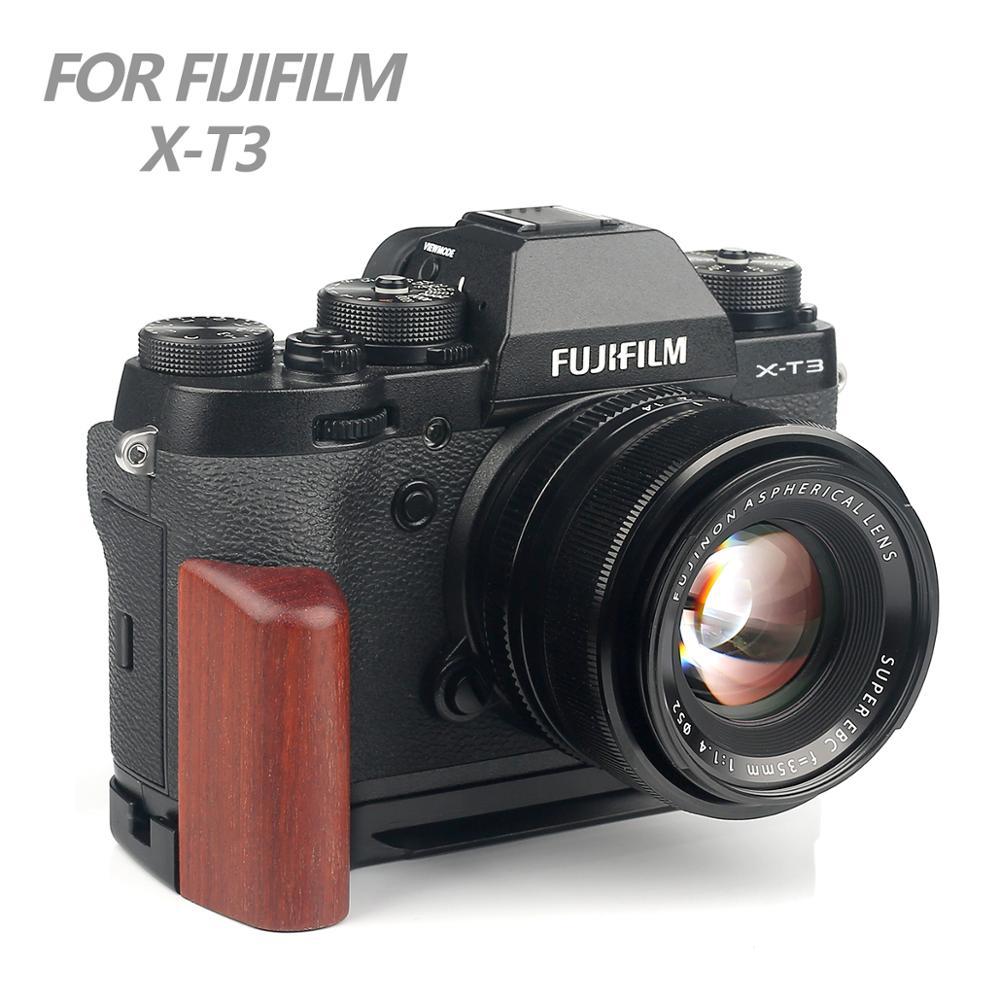 Bois Pro Vertical L Type support trépied fixation rapide plaque Base poignée pour Fuji Fujifilm X-T3 XT3 XT-3 appareil photo arca-swiss