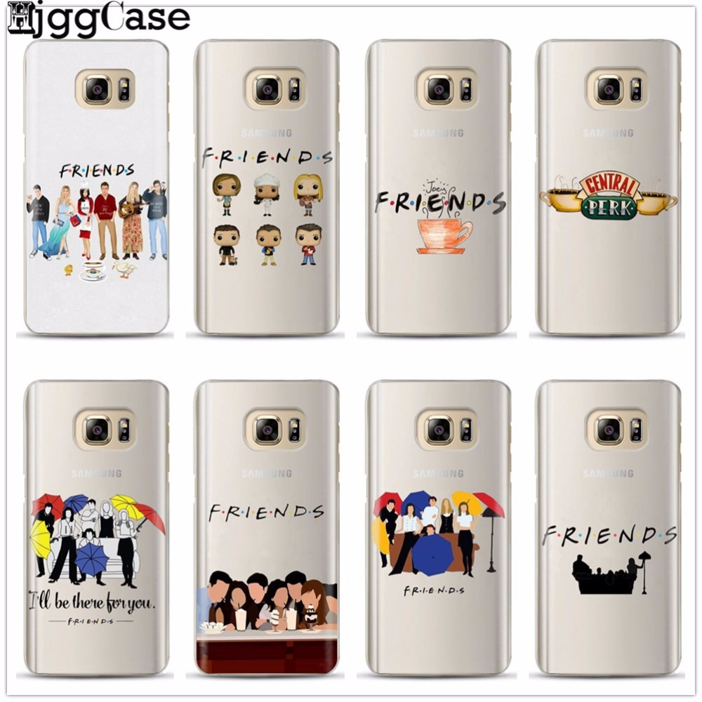Friends TV Funny Central Perk Park TPU Phone Case For <font><b>Samsung</b></font> <font><b>Galaxy</b></font> S6 S7 Edge S8 S9 plus J5 J7 A3 A5 A7 <font><b>2016</b></font> 2017 A8 plus 2018 image