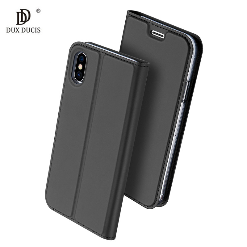 DUX DUCIS Flip Holster For Coque iPhone X 10 iPhone 7 8 Plus Case Leather Skin Book Cover For iPhone 7 8 Plus Phone Cover