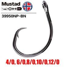 Mustad Norway Origin Fishing Hook High Carbon Steel Big Size Circle Fish Hooks,4/0,6/0,8/0/10/0,12/0,39950NP-BN