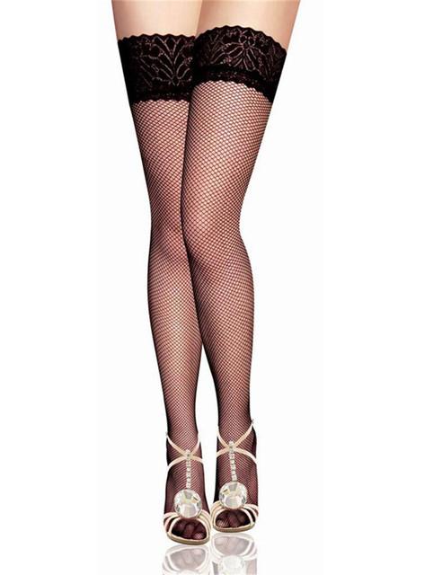 20661 venta Caliente diseño ahueca hacia fuera las mujeres atractivas medias medias transparentes negras especiales populares ajuste del cordón más tamaño medias