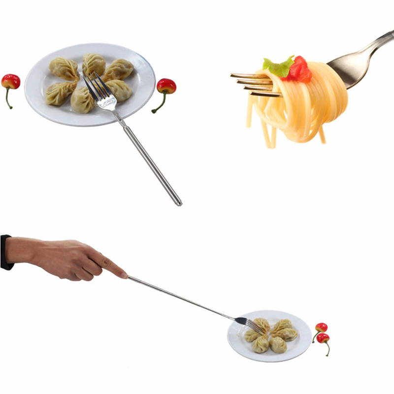 Barbecue DIY Telescopic Extendable stainless steel telescopic long fork