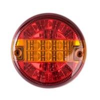 1 Pcs 9 33V 140MM Chrom Waterproof LED Rear Combination Lamp Car Styling Bright Turn Lights