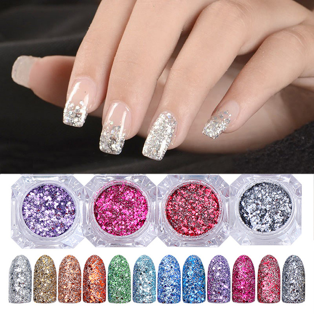3g Shinning Nail Glitter Nail Art Powder Gorgeous Nail Mixed Sequins