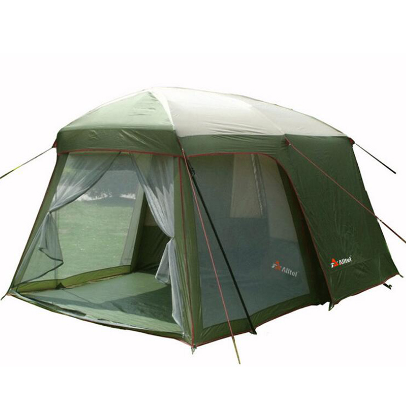 Double layer garden 5 8 person large family camping tent Outdoor leisure for 4 double layer