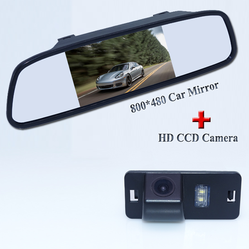Promotion Night Vision Car SONY CCD Rear View Camera With LCD Car <font><b>Monitor</b></font> Camera for BMW 1357 series X3 X5 X6 Z4 E39 E53 E46