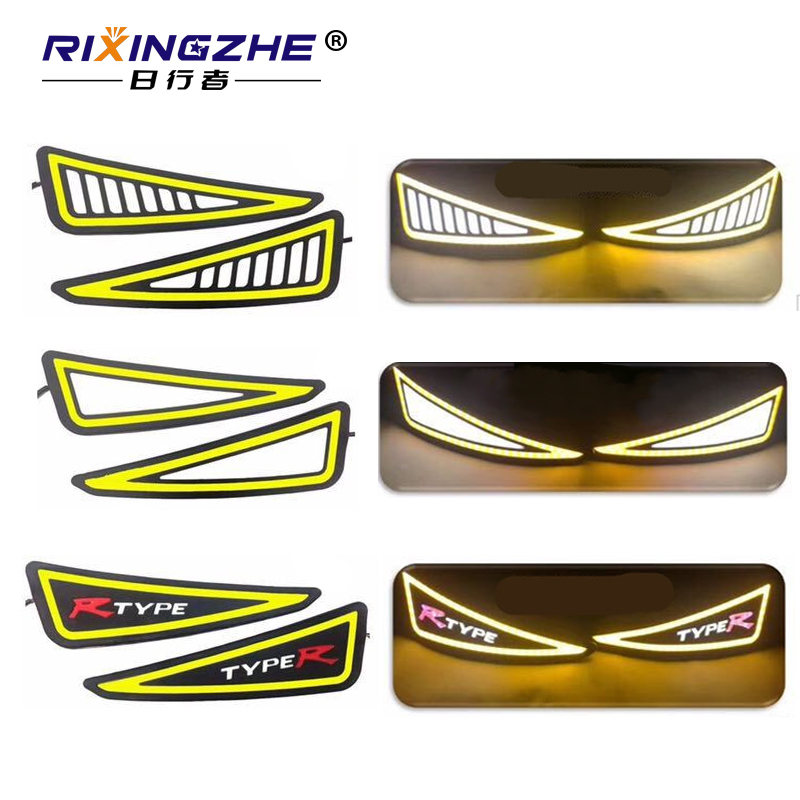 Car Styling drl COB LED Lamp Flexible DRL Universal Daytime Running Light Car Driving lamp turn signal drl cob waterproof 12v 2pcs set new design drl led daytime running lamp auto cob light 100% waterproof car accessories free shipping