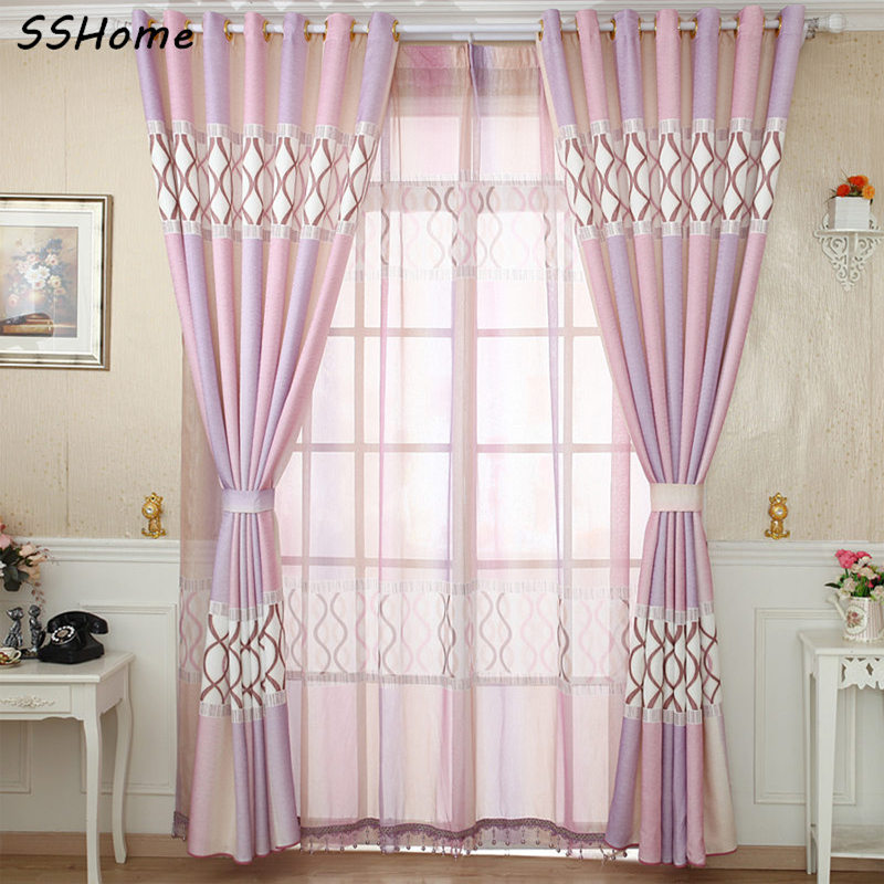 Wisteria colorful style curtain fashion brief
