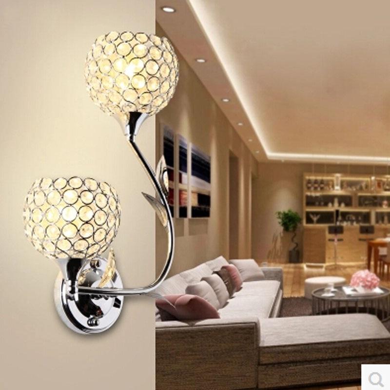 K9 Crystal Wall Light Sconces Modern Luxury Beautiful Bedroom Living Room Wall Light AC 90-260V Free Shipping недорого