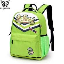BAIJIAWEI Marke Kinder Schultaschen Für Mädchen Jungen Kinder Rucksack In der Grundschule Rucksäcke Wasserdichte Mochila Infantil Zip