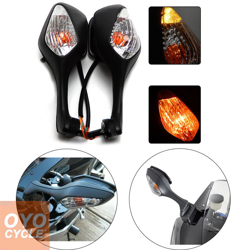 For 2008-2013 Honda CBR1000RR CBR 1000RR 2010-2012 VFR1200 VFR 1200 Pair Motorcycle Rearview LED Turn Signal Side Mirrors Black unpainted motorcycle abs injection bodywork fairing cowl kit for honda vfr 1200 vfr1200 2010 2011 2012 2013