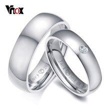 Vnox Basic Wedding Bands Rings for Women Man Customize Date