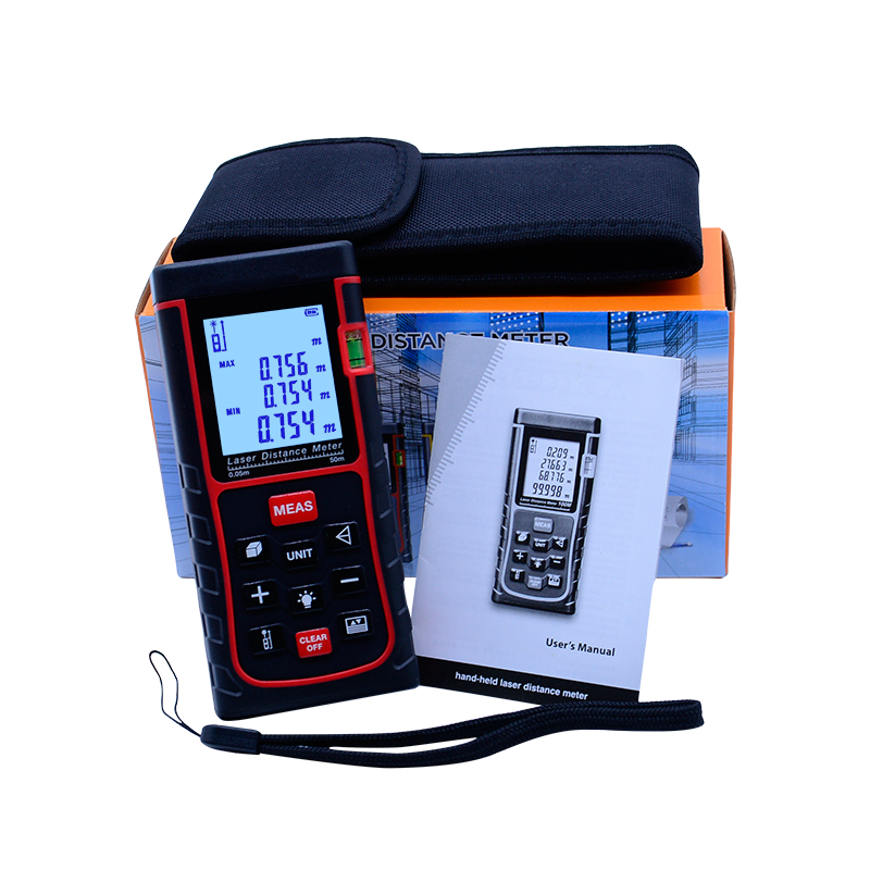 купить Digital Handheld Laser Range Finder 50 MD SW-E50 Laser Distance Meter Digital Range Finder Laser Tape Measure with high quality недорого