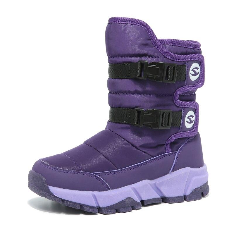 HOBIBEAR Winter Snow Boots for Girls Skórzane buty dziecięce Warm - Obuwie dziecięce - Zdjęcie 5