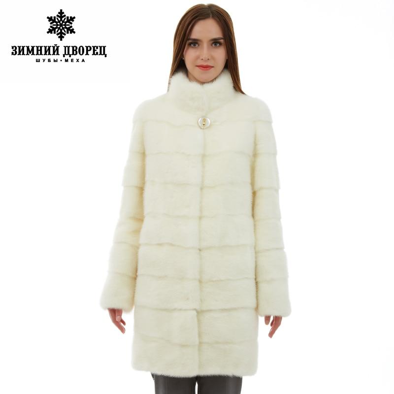 Genuine Leather women fur coat Fashion Slim Furwinter jackets womenmink fur coat mink fur coats for women Warm Mandarin Collar