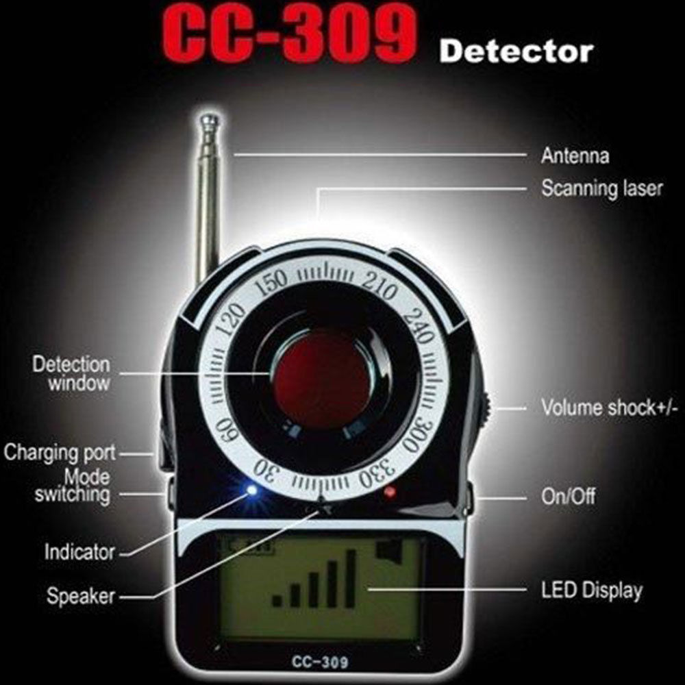 Anti-Spy Full Band Signal Bug RF Detector Laser Lens GSM Finder mool anti spy signal bug rf detector camera lens gsm device tracer finder