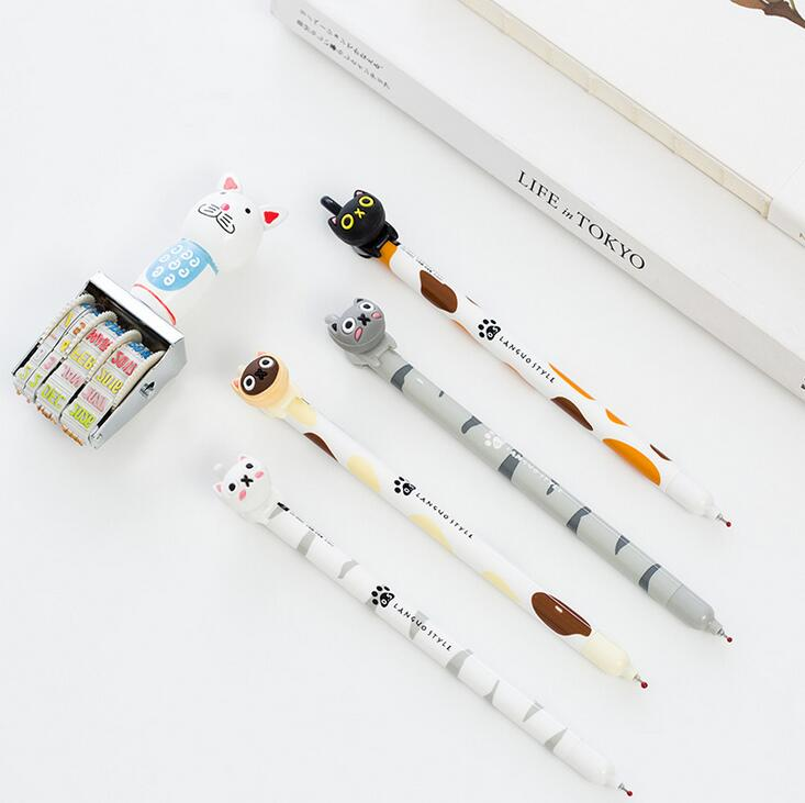 0.5 mm Lovely Animal The Little Cat Gel Pen Promotional Gift Stationery School & Office Supply