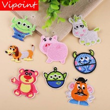VIPOINT embroidery pig bear dogs patches et badges applique for clothing YX-31