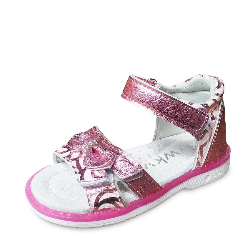 2018 NEW Kids Girl Shoes 1pair Fashion Children Orthopedic Sandals Children Shoes+inner length 13.5-16.7cm