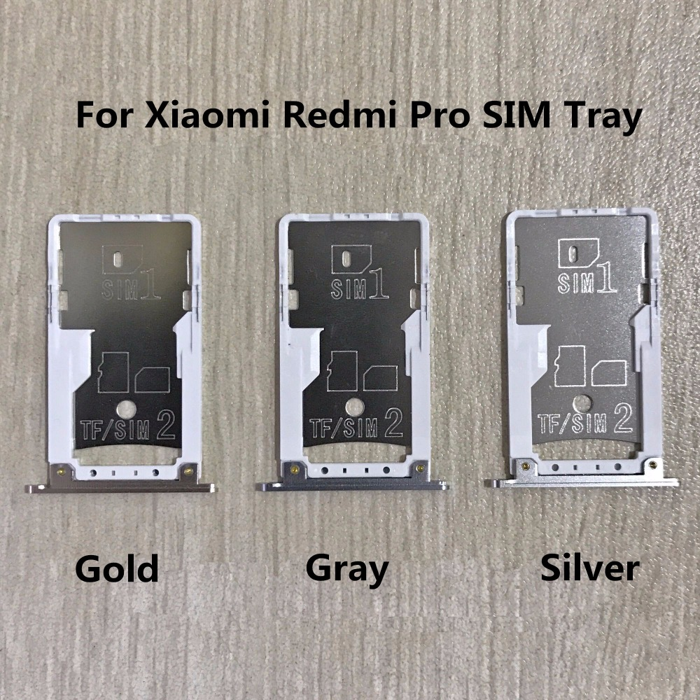 New SIM Tray Sim Card Holder Slot used+100% Replacement replacements For Xiaomi Redmi Pro Free shipping +Tracking Code