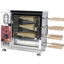 8 роликовых тяжелых 110 В 220 В Электрический мороженое конусный дымоход торты и Kurtos Kalacs ролл гриль печь машина