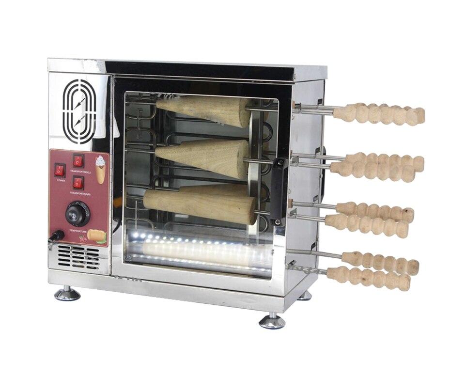 Haushaltsgeräte Ausdauernd 8 Roller Heavy Duty 110 V 220 V Elektrische Eis Kegel Schornstein Kuchen Und Kurtos Kalacs Rolle Grill Ofen Maschine