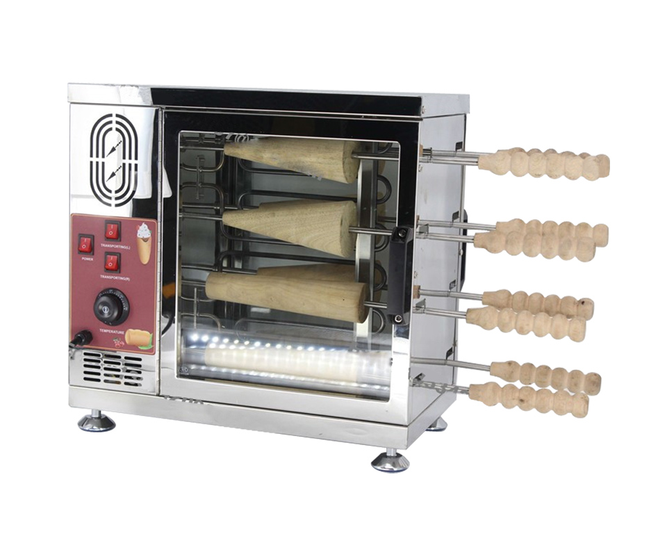 8 Roller Heavy Duty 110v 220v Electric Ice Cream Cone Chimney Cakes And Kurtos Kalacs Roll Grill Oven Machine