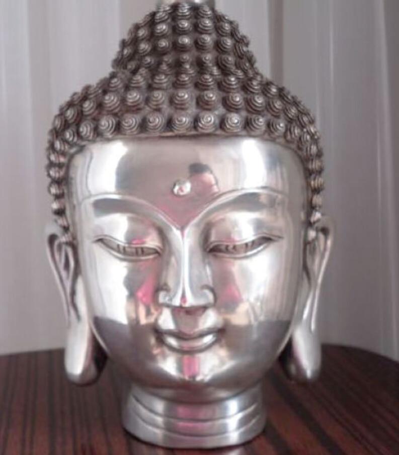 SUIRONG---522+++Tibetan Buddhis shakyamuni bronze buddha head statueSUIRONG---522+++Tibetan Buddhis shakyamuni bronze buddha head statue