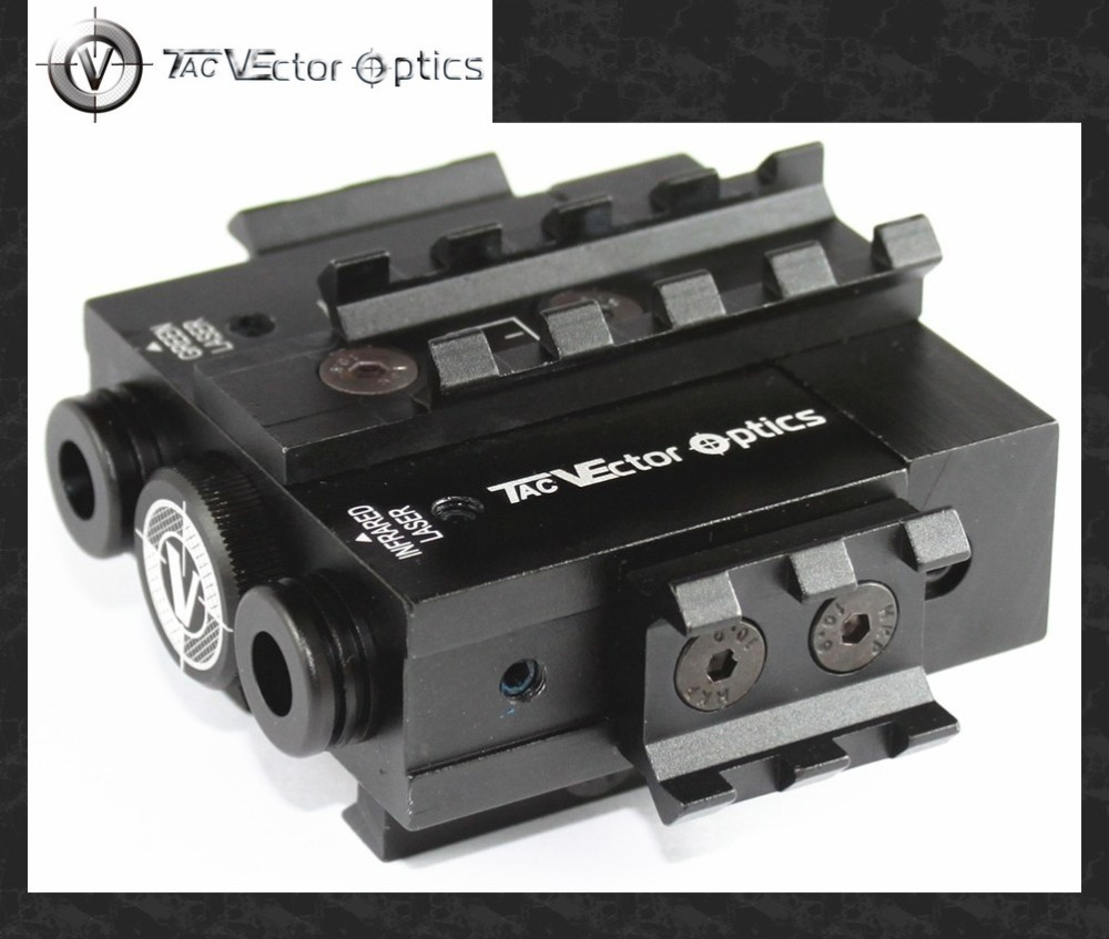 Vector Optics Viperwolf Tactical 532nM Green Laser & 850nM Invisible Infrared IR Laser Designator Combo Sight fit Night Vision