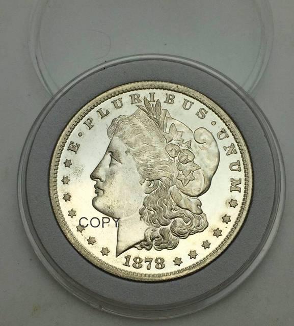 Редкие монеты США и Америки, 1878 8 хвостовых перьев Моргана, один доллар, неправильный тип, 90% Серебряная копия монеты, вес 26,73 граммов
