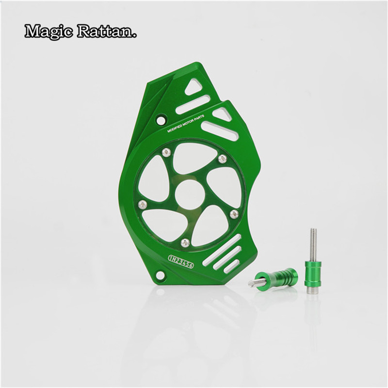 CNC Motorcycle Left Engine Front Sprocket Cover Chain Guard Protection  For  ER-6F 2012-2017  ER-6N 2012-2017  Z650 2017 mgoodoo cnc aluminum motorcycle left engine guard chain protector front sprocket cover panel for yamaha r3 r25 2014 2015 2016