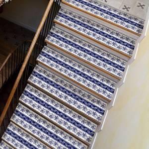 Image 4 - Chaude 2 pièces Style bohême escalier autocollants, PVC bricolage autocollant de sol, Stickers muraux pour la décoration de la maison salle de bain et cuisine