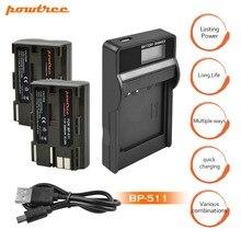 2 пакеты 2800 мАч Акку BP-511 BP 511 BP511 BP511A Батарея + ЖК-дисплей USB Зарядное устройство для Canon EOS 40D 300D 5D 20D 30D 50D G6 G5 G3 G2 G1 L10