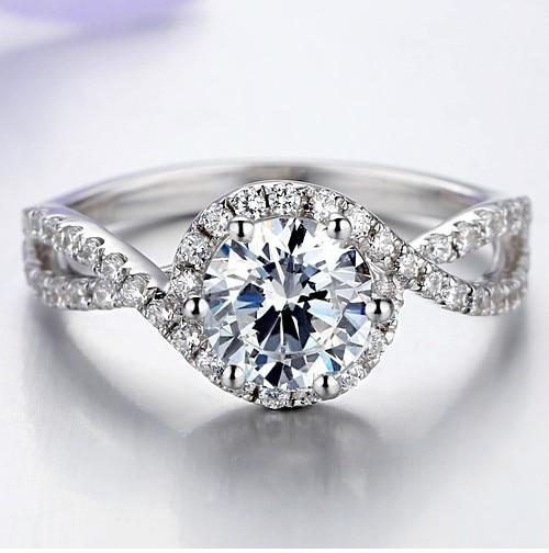 1Ct Forma della Pianta di Alta Qualità In Argento Sterling 925 Anello di Diamanti per Le Donne Classico di Anniversario Dei Monili del Regalo-in Anelli da Gioielli e accessori su  Gruppo 1