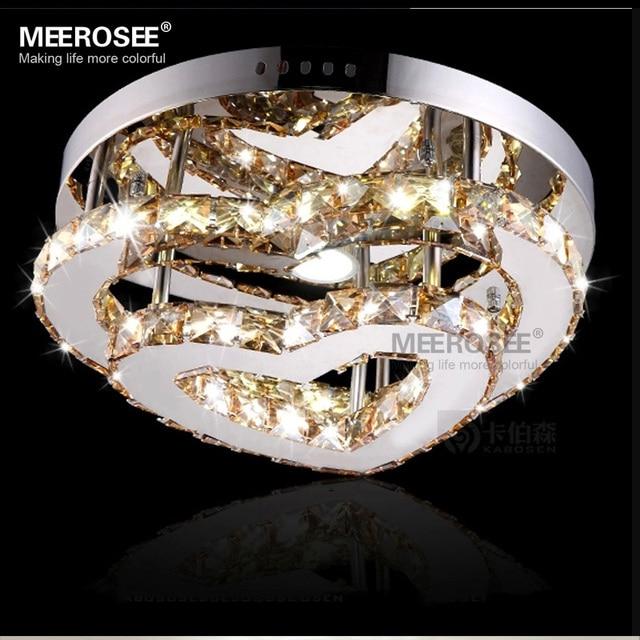 Mirror Finish Stainless Steel Ceiling Light Fixture Heart Shape LED Diamond Crystal Flush Mount Lighting Interior & Mirror Finish Stainless Steel Ceiling Light Fixture Heart Shape LED ...