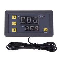 55 120 Degree Digital Temperature Controller DC 12V Thermostat Temperature Control Red And Blue Display