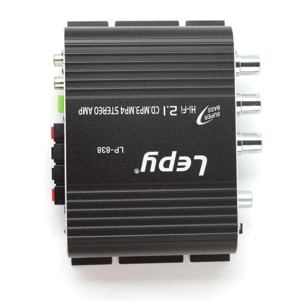 ... Lepy LP-838 Power Car Amplifier Hi-Fi 2.1 MP3 Radio Audio Stereo Bass 66d5300d4b250
