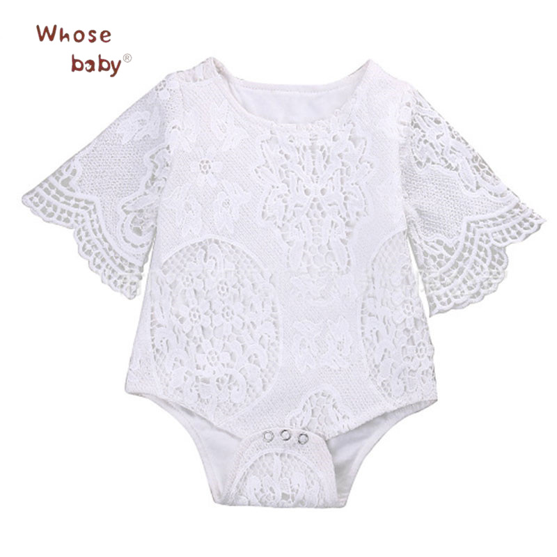 Newborn Baby Girl Bodysuit Summer Clothes Lace Infant FloralBodysuits forToddler Girls Jumpsuit Embroidery Outfits Baby Clothing pink baby girl rompers lace ruffle for toddler birthday outfits infantil bebe jumpsuit summer 2016 girls clothes infant clothing