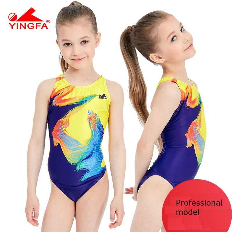 5471ddac7515e Yingfa 2018 swimwear training swimsuit arena Girls swimsuits children  racing competition kids swimming suits professional hot