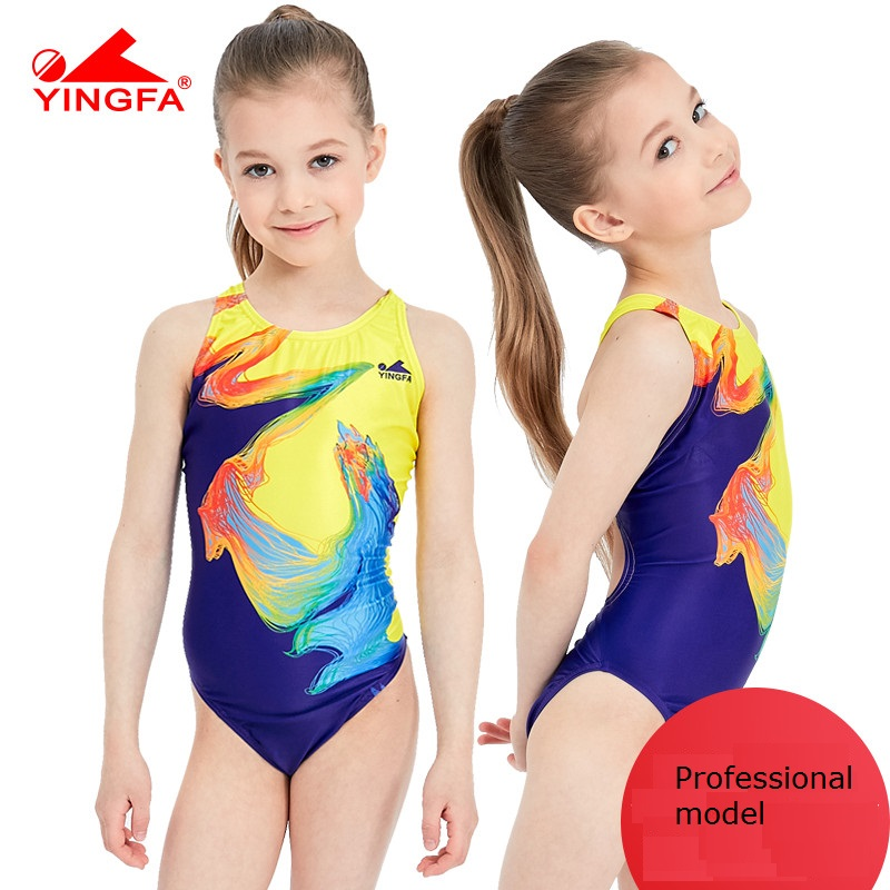 Yingfa 2020 swimwear training swimsuit arena Girls swimsuits children racing competition kids swimming suits professional hot(China)