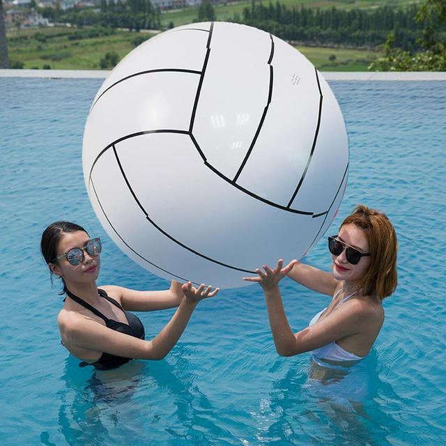 80CM Inflatable Beach Ball Volleyball Inflatable Ball Children's Game Water Toy Ball For Kids Adult Group Game Toys For Children 3