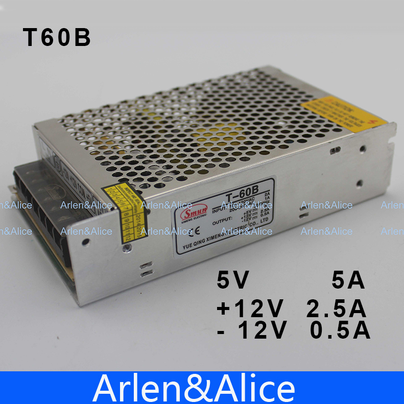 60W Triple output 5V 12V -12V Switching power supply smps AC to DC 30w triple output 5v 24v 12v switching power supply smps ac to dc