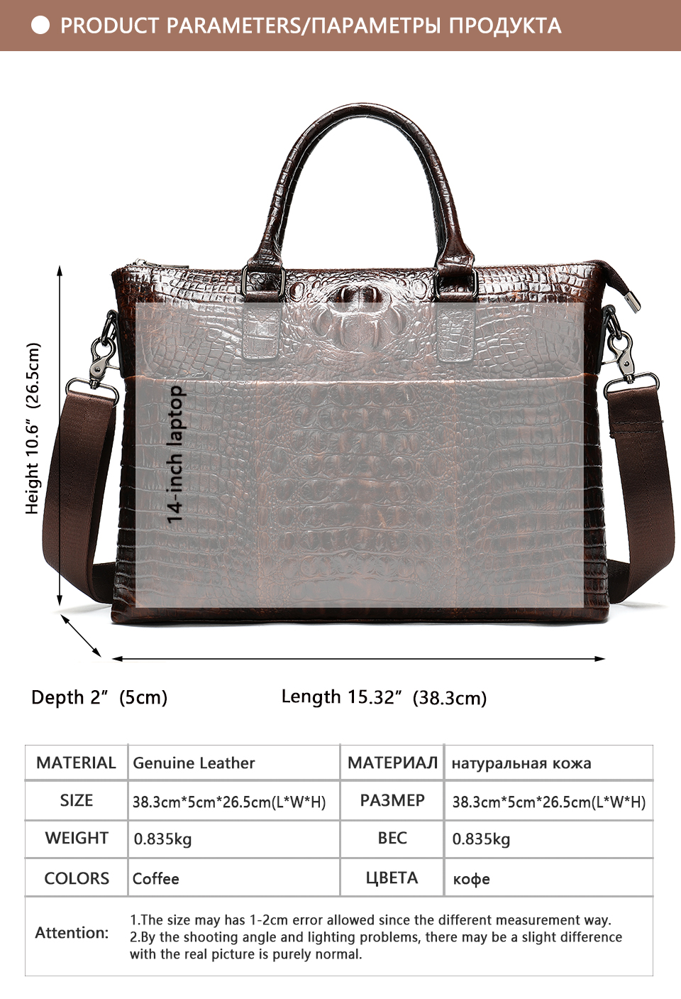 HTB1gJTVe8WD3KVjSZFsq6AqkpXaZ WESTAL Men Briefcase Men's Bag Genuine Leather Office Bags for Men Laptop Bag Leather Briefcase Men Croco Design Computer Bags