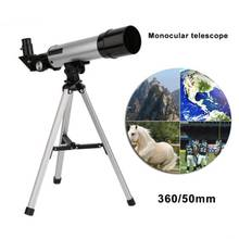 Refractive Outdoor Monocular Space Astronomical Telescope With Tripod 360 / 50mm Spotting Scope