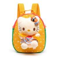 2016 kinder Rucksack Kindergarten Schultaschen Für Mädchen Jungen Kinder Rucksack Niedlichen Cartoon Spielzeug Kitty Bänder Bow Heißer Verkauf