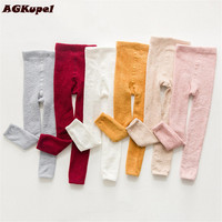 AGKupel Spring Autumn Cotton Print Girls Leggings Children Knitting Girls Pants Kids Trousers For Baby Girl