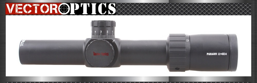 Vector Optics Paragon 1.2-6x24 Tactical Rifle Scope Telescopic Sight with High Quality German Glass KillFlash 1/5 MIL Turret