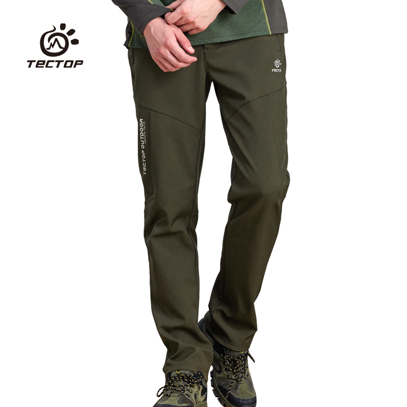 2016 New Autumn Winter Brand Men Softshell Hiking Pants Man Outdoor Sport Waterproof Windproof Thermal Fleece Climbing Trousers цена