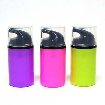 50pcs/lot PP 50ml airless airless pump for lotion, BB cream bottle vacuum bottle ,Black pump head plastic bottle